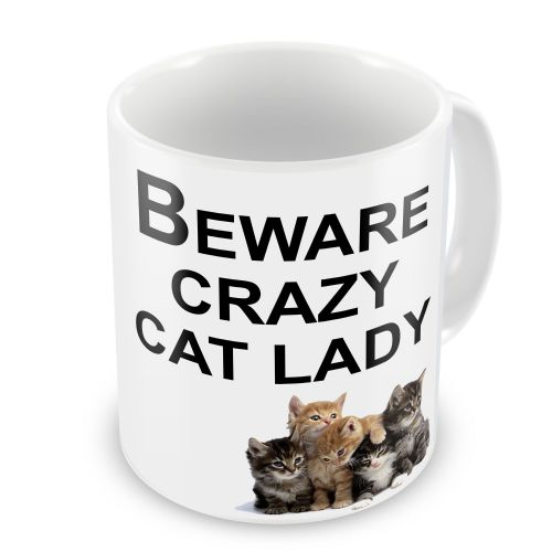 Beware Crazy Cat Lady Novelty Gift Mug